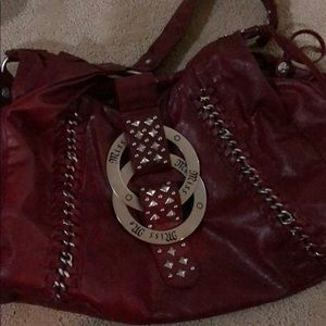 Miss Me Red Gorgeous Leather Hobo Purse